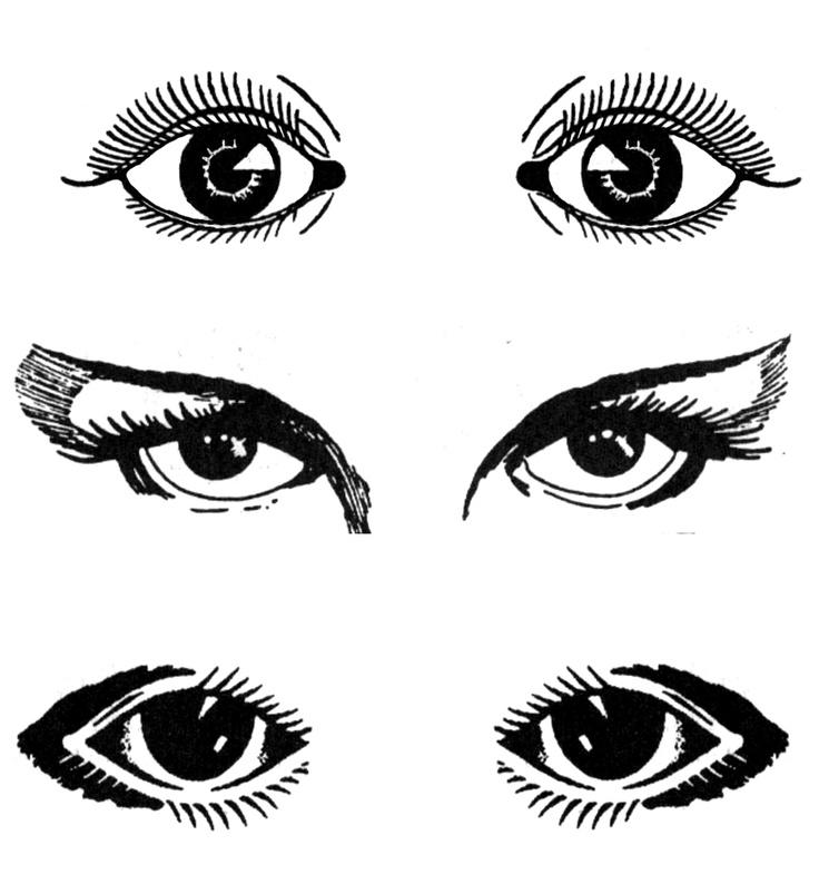 Open eye clipart.