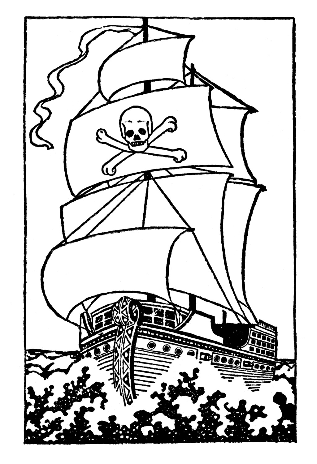Download Free png Download Black And White Pirate Ship The.