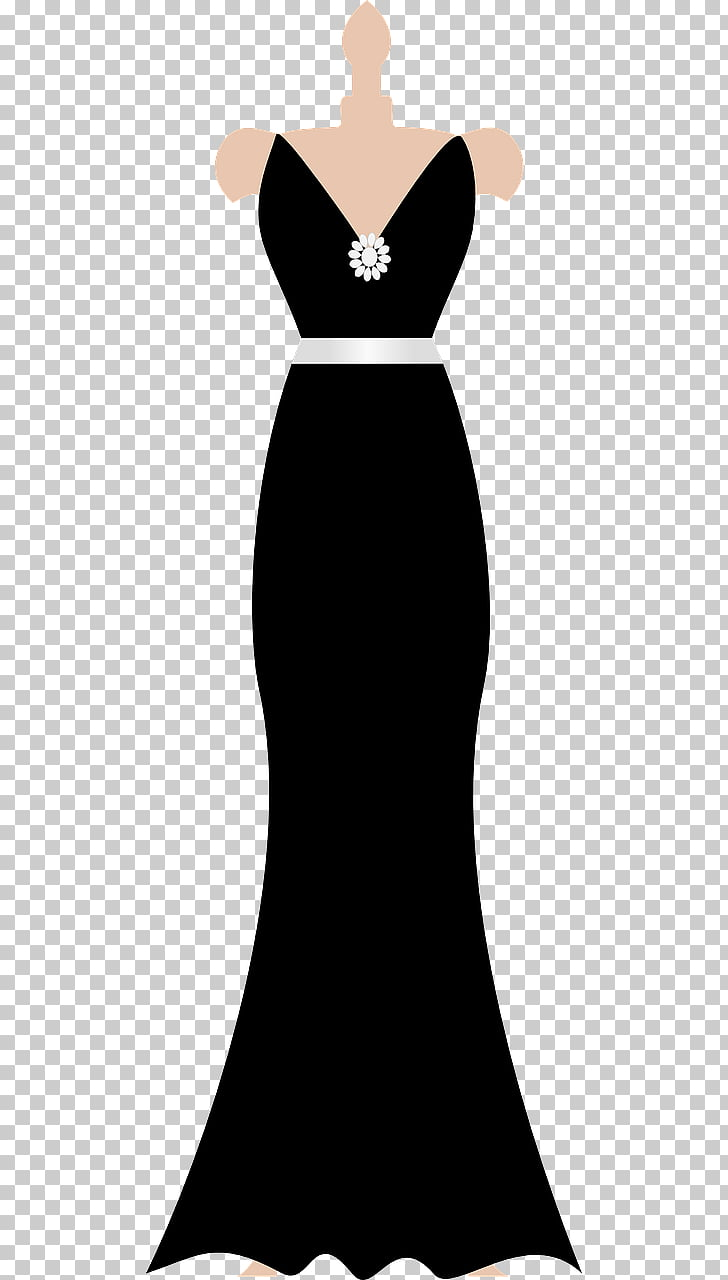 Dress Prom Formal wear Gown , Black dress PNG clipart.