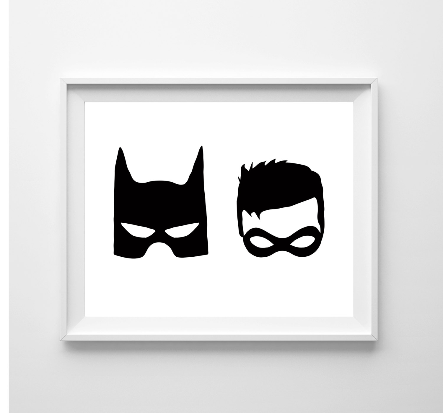 Batman And Robin Clipart Black And White.