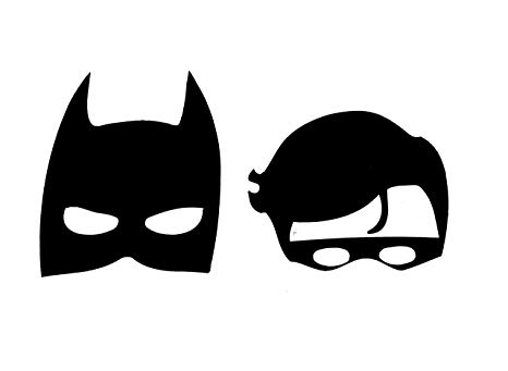 Amazon.com: Retro Batman & Robin Masks Vinyl Decal 115.