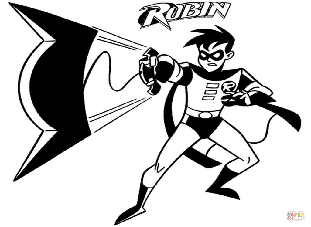 Batman And Robin Coloring Pages.