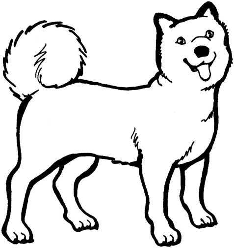 Free black and white dog clipart 3 » Clipart Portal.