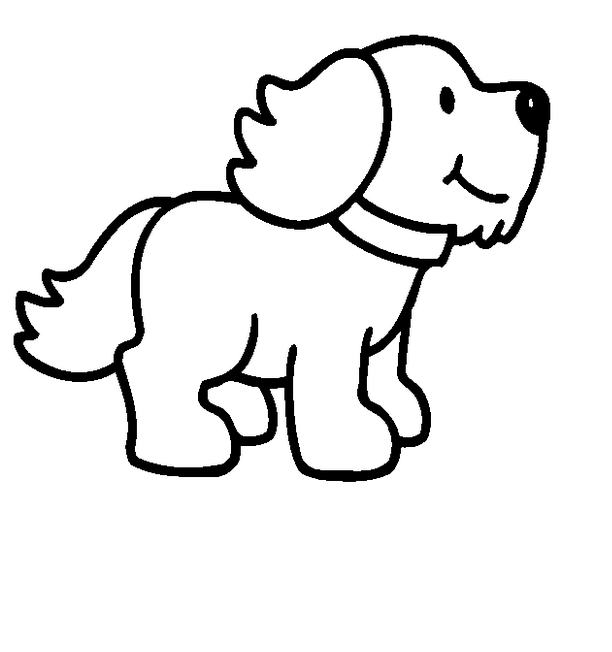 Cartoon Dog Png Dog Clipart Black And White.