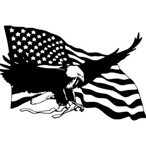 Details about Bald Eagle American Flag Wall Car Truck Laptop Window Vinyl  Sticker Decal.