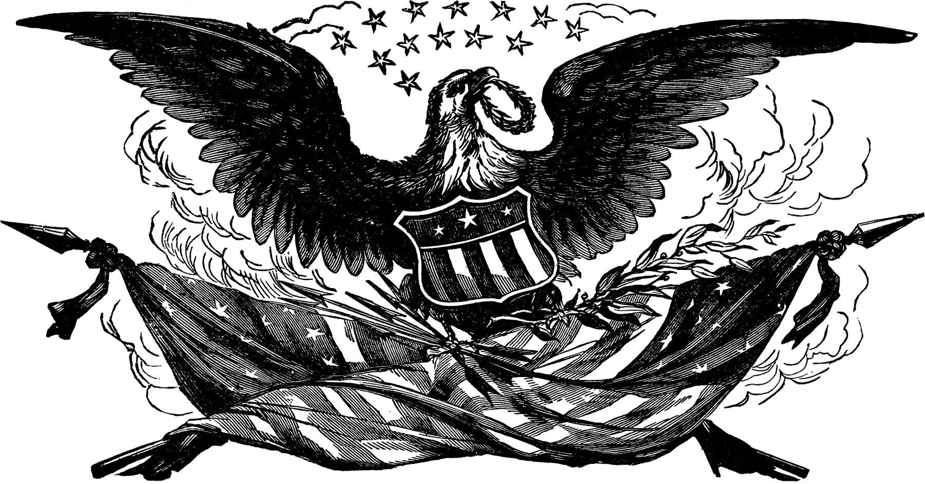 Best American Eagle Clip Art Black And White Images » Free.