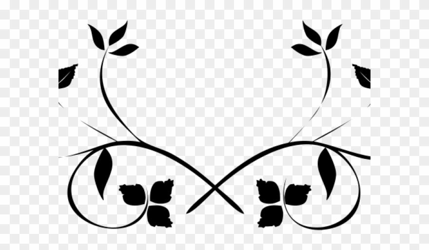 Flourish Clipart Black And White.