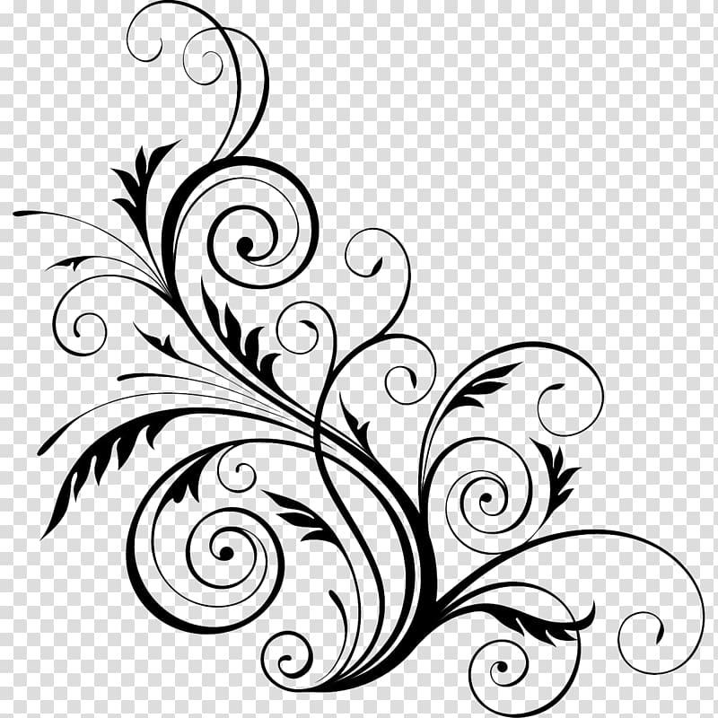 Floral design Flower , wall pattern transparent background.