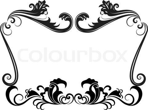 Free black Clip Art Borders and Frames weddings.
