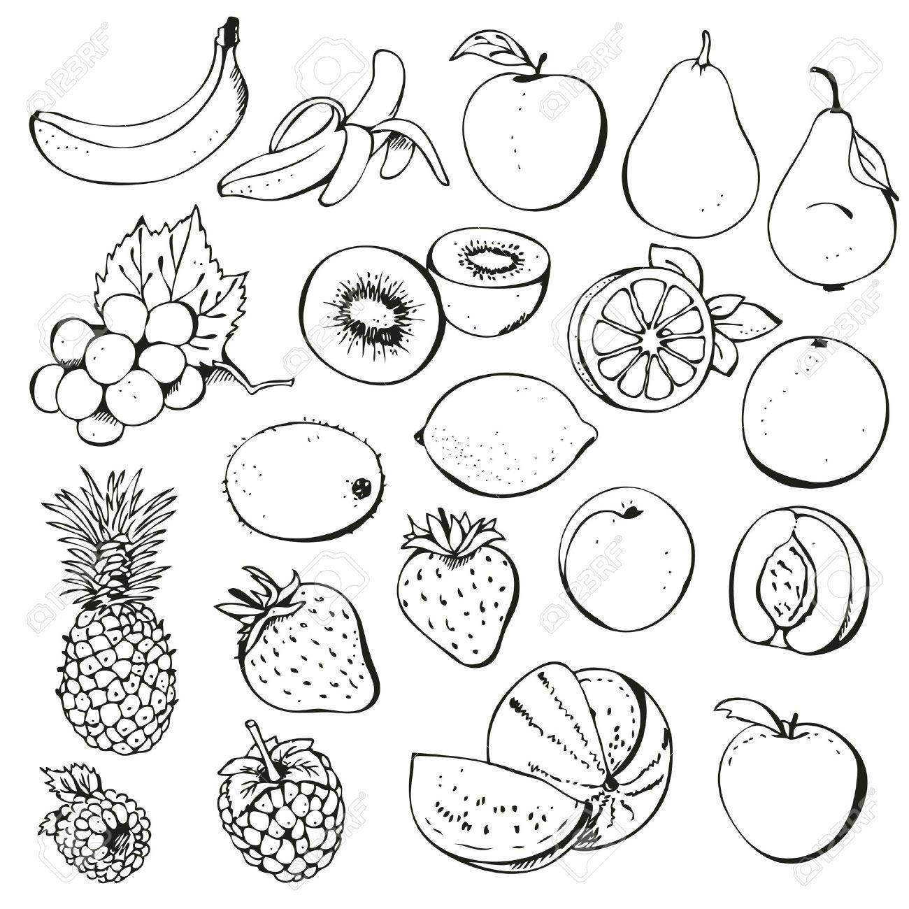 clip art black and white fruit of the spirit.