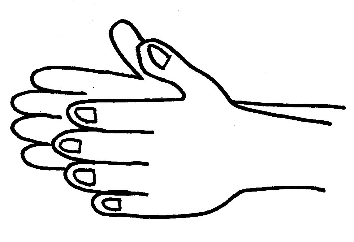 Hand black and white clap clipart black and white.