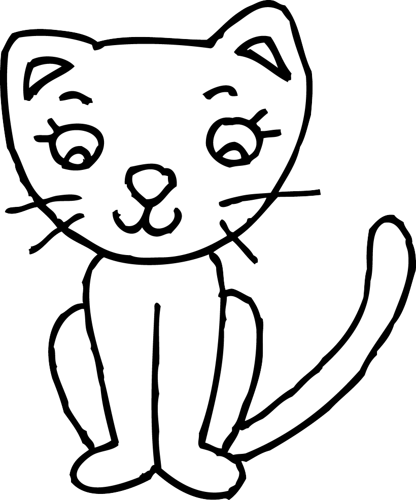 Kitty clipart line, Kitty line Transparent FREE for download.