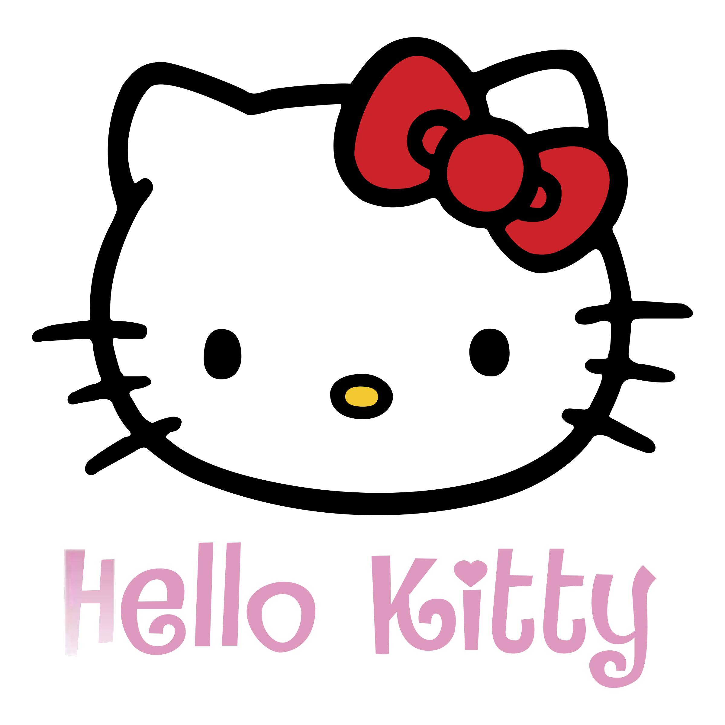 Hello Kitty Black And White Clipart at GetDrawings.com.
