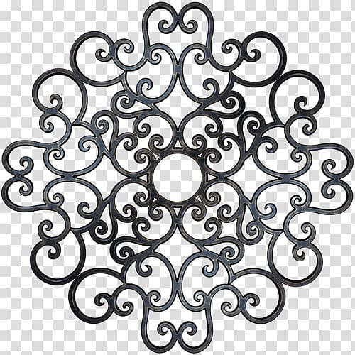 Ceiling Medallion Wrought iron Wall, casino decoration.