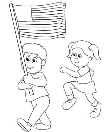 Black White Memorial Day Flag Clipart.