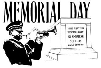Free Memorial Day Clipart Black and White 2888# Holiday Clip Art.