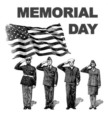 Black White Memorial Day Clipart Memorial Day Clipart Black and.
