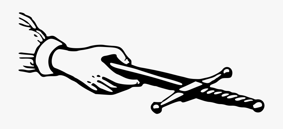 Clipart Hand Offering A Dagger.