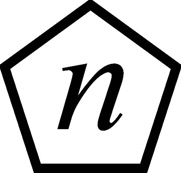 Letter N In A Pentagon Clip Art at Clker.com.