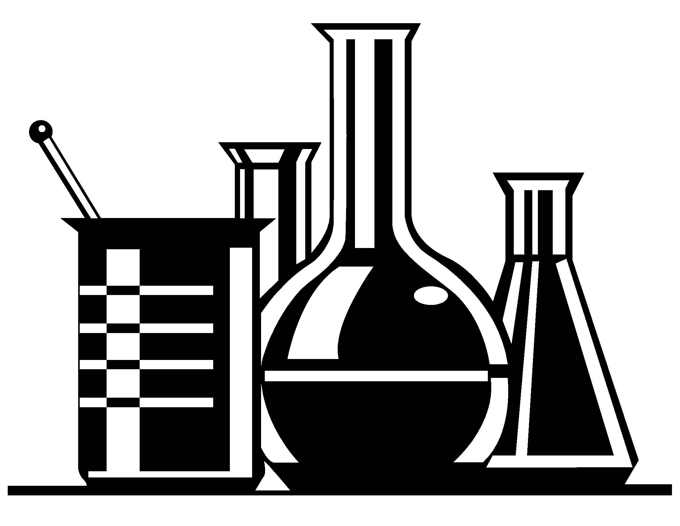 Chemistry Beaker Clipart Black And White.