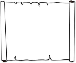 Black And White Scroll Clipart.