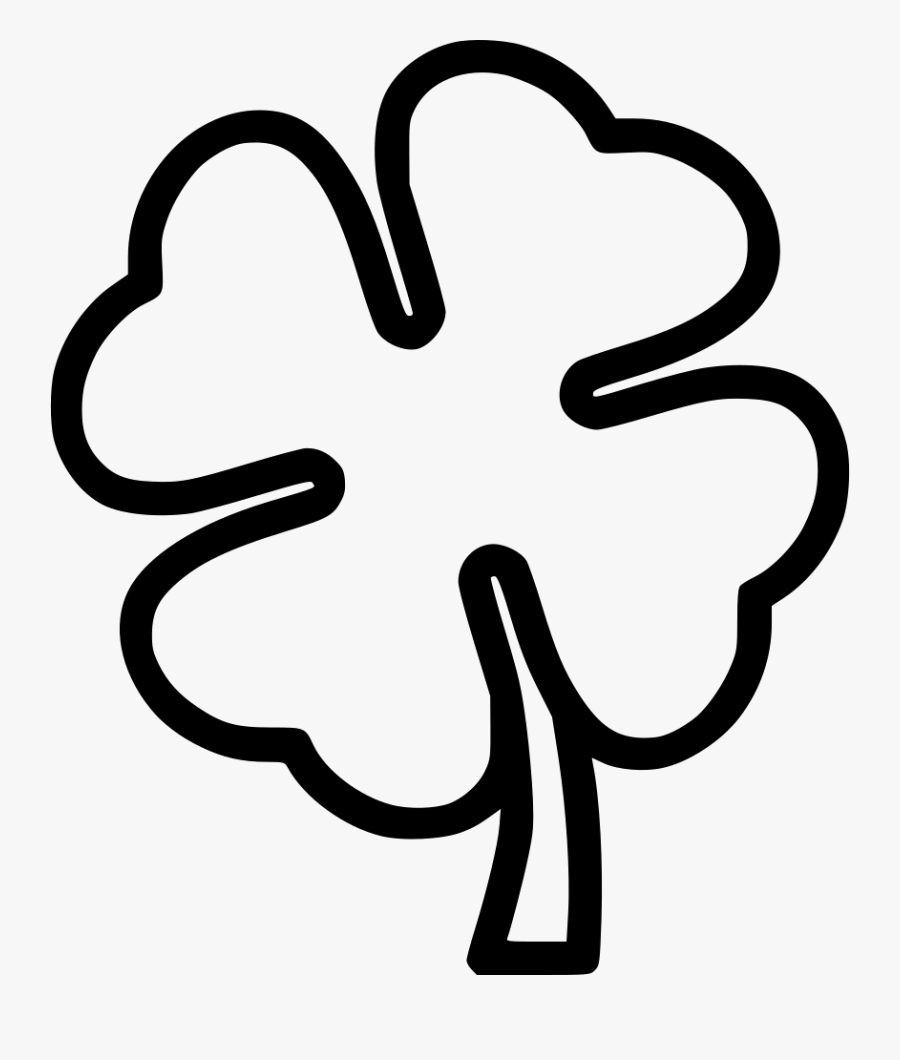 Black And White Four Leaf Clover Black And White Clipart.