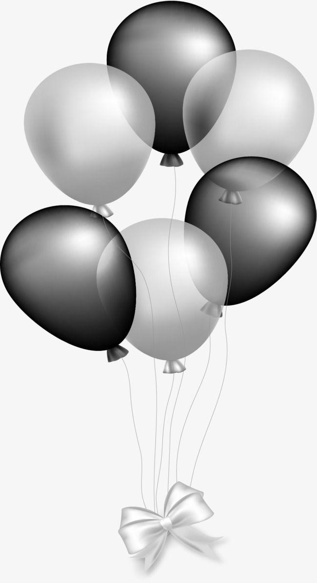 Silver Gray Balloon, Balloon Clipart, Vector Material.