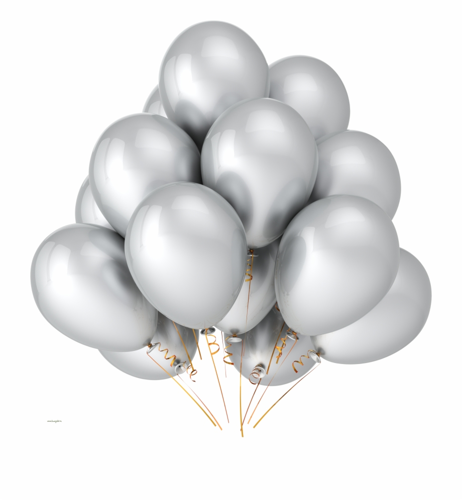 Balloon Png595 Silver Balloons Transparent Background.