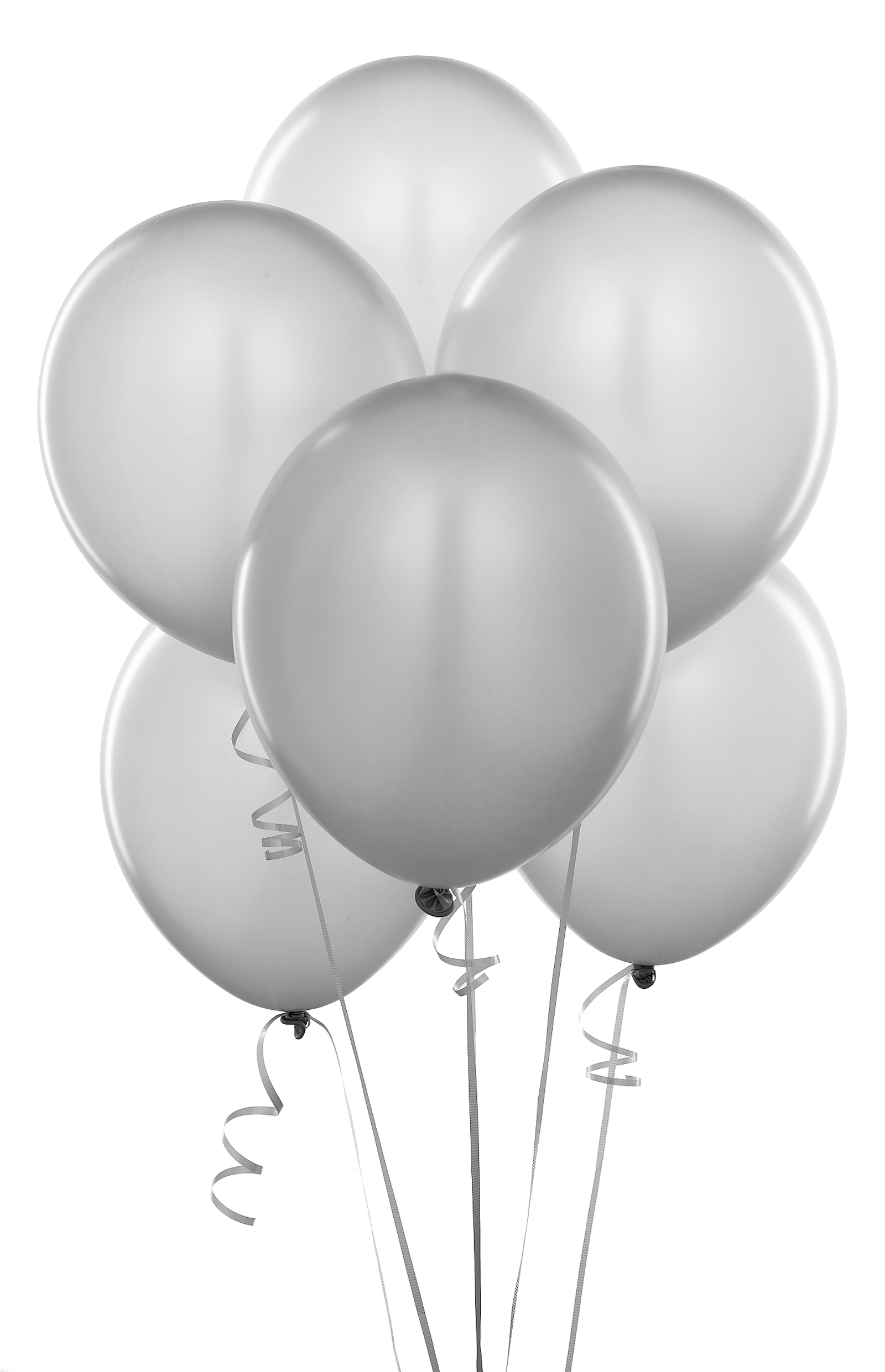 Black And White Party Balloons Clipart.