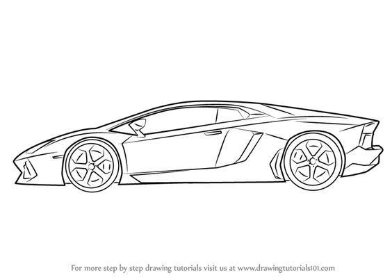 How to Draw Lamborghini Centenario Side View.
