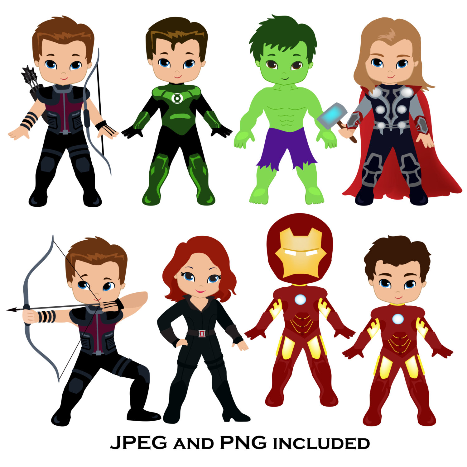 Black Widow Avengers Clipart.