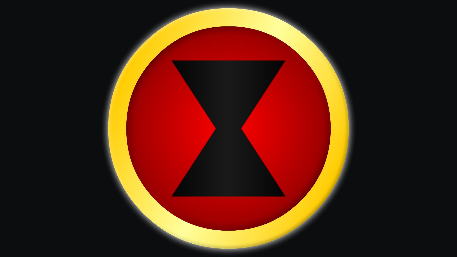 Black widow marvel Logos.