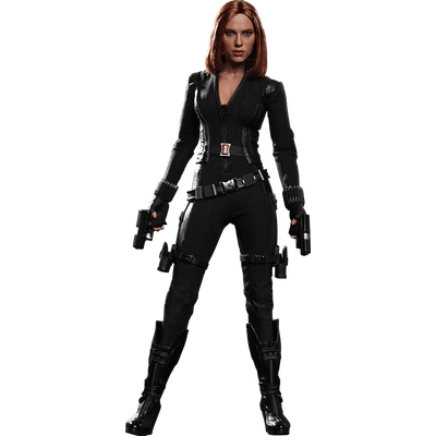 Black Widow Standing transparent PNG.