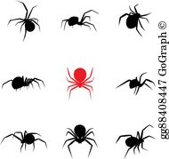 Black Widow Spider Clip Art.