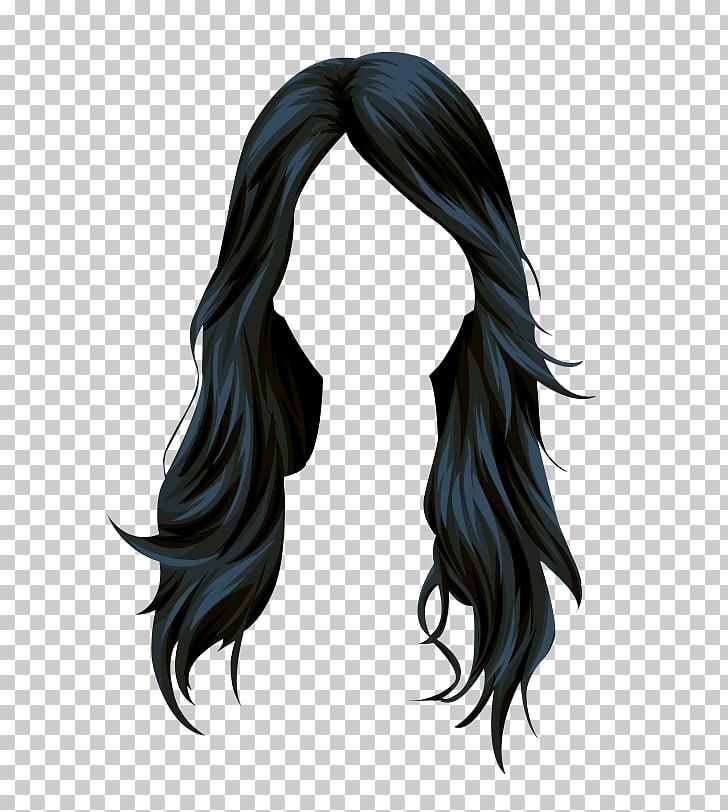 Stardoll Black hair Wig Long hair, hair , black hair.