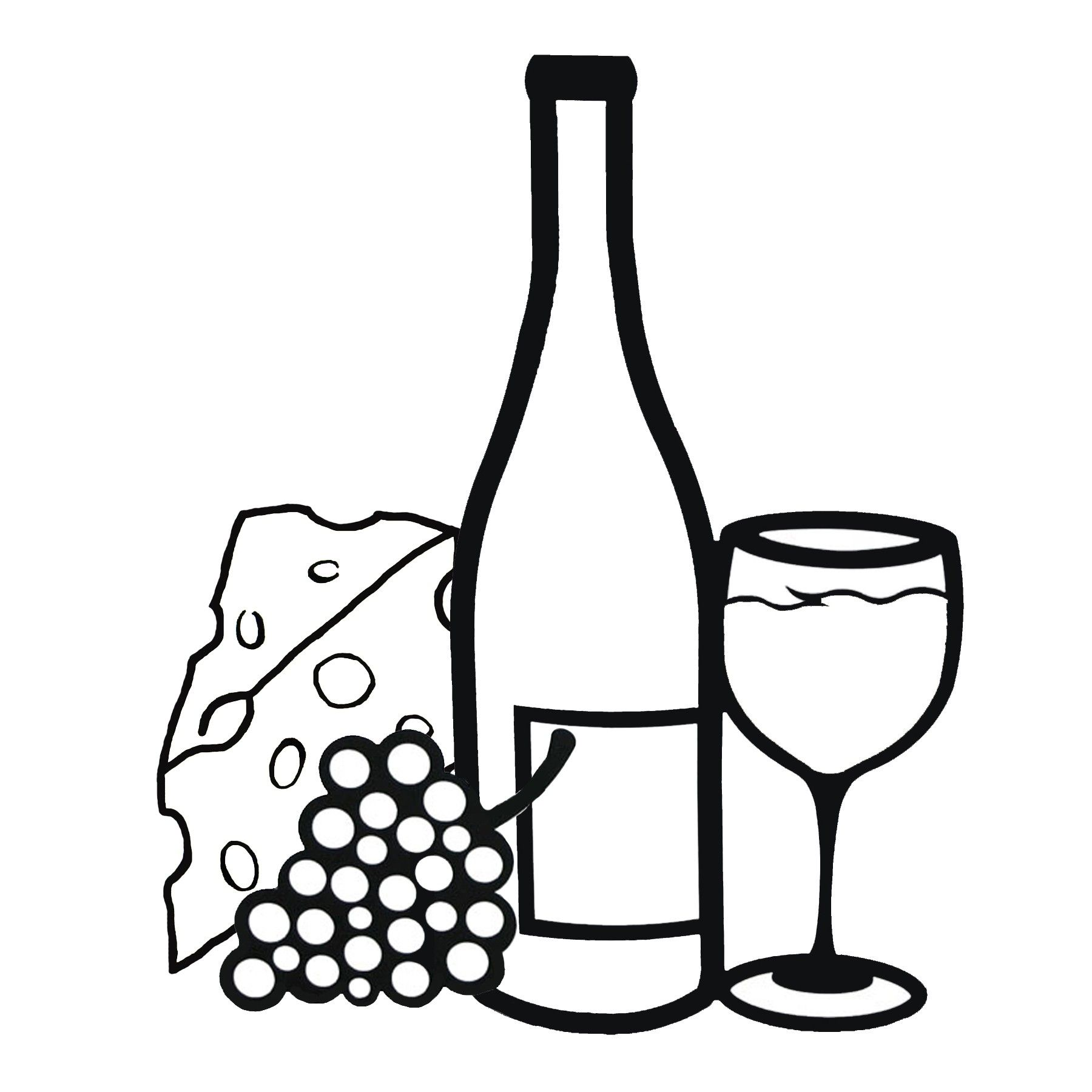 Images For > Wine Glass And Grapes Clipart.