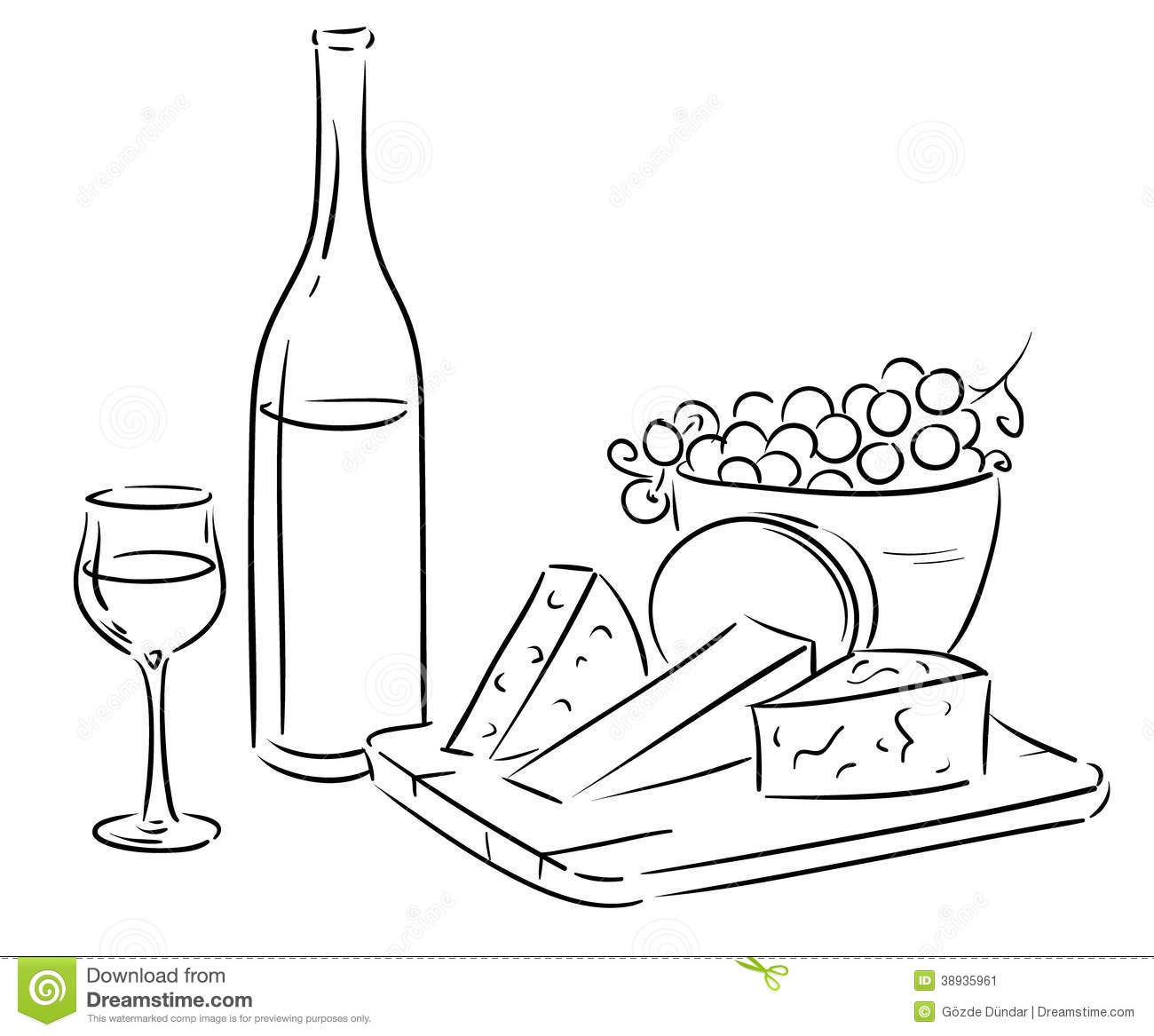 6036 Wine free clipart.