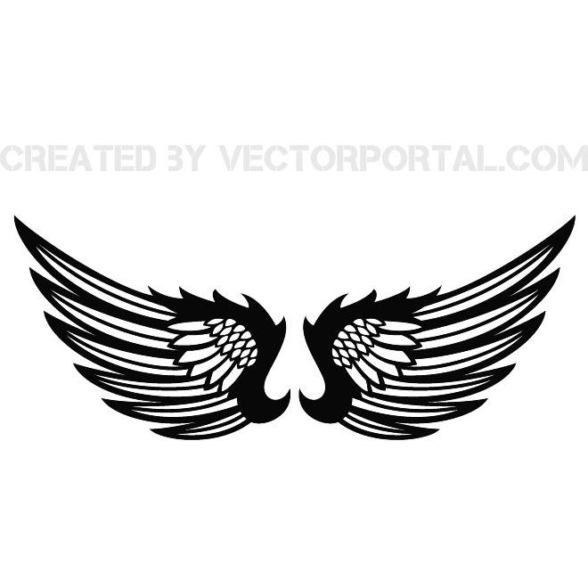 Wings Clip Art Black.