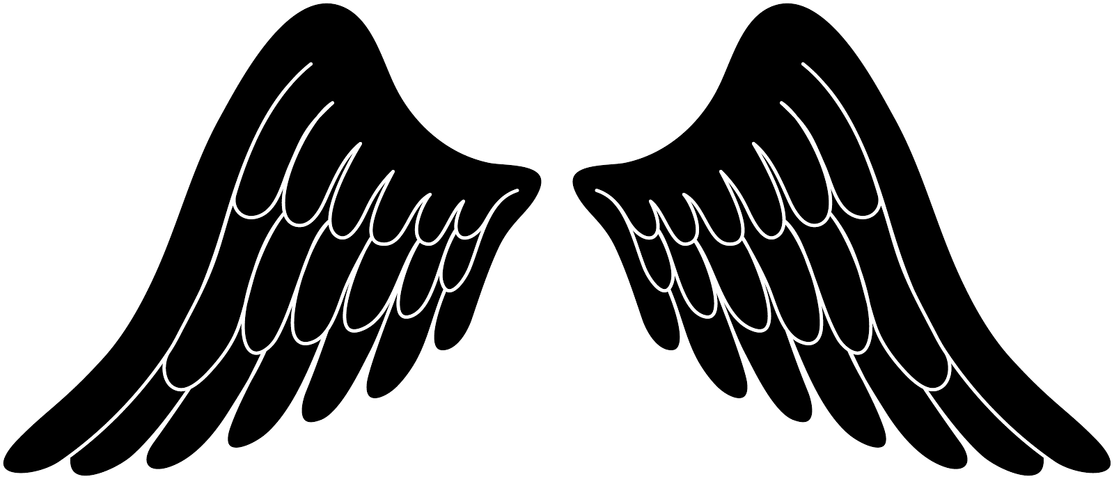 Black Wings Clipart Clip art of Wings Clipart #6608 — Clipartwork.
