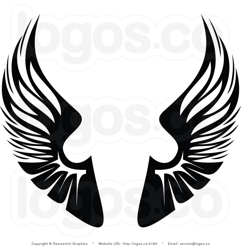 Solid Blackwings Clip Art.