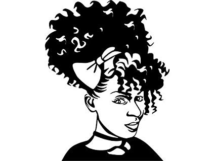 Amazon.com: EvelynDavid Black Woman Afro Puff Stylish.