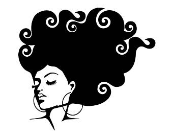 Afro clipart grey hair, Afro grey hair Transparent FREE for download.