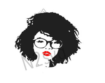 Afro clipart glass svg.