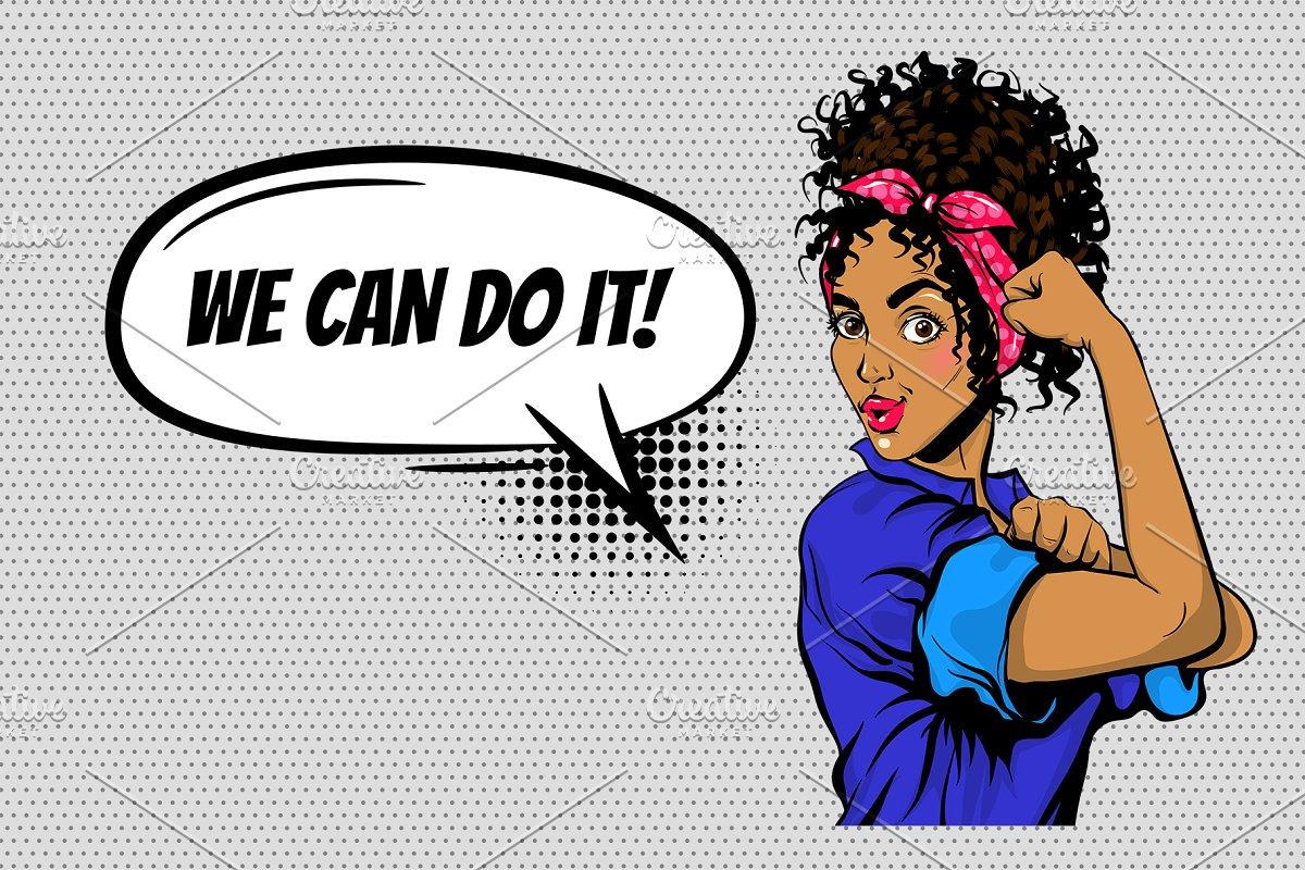We Can DO it! Black woman pop art.