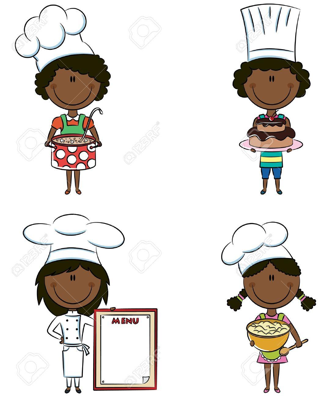 Black Woman Chef Clipart.