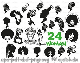 Black woman svg.