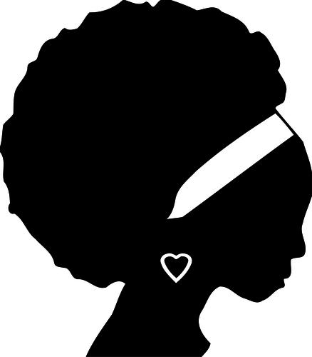 23358 black woman clipart free.