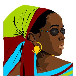 Beautiful Black Woman clipart, cliparts of Beautiful Black Woman.