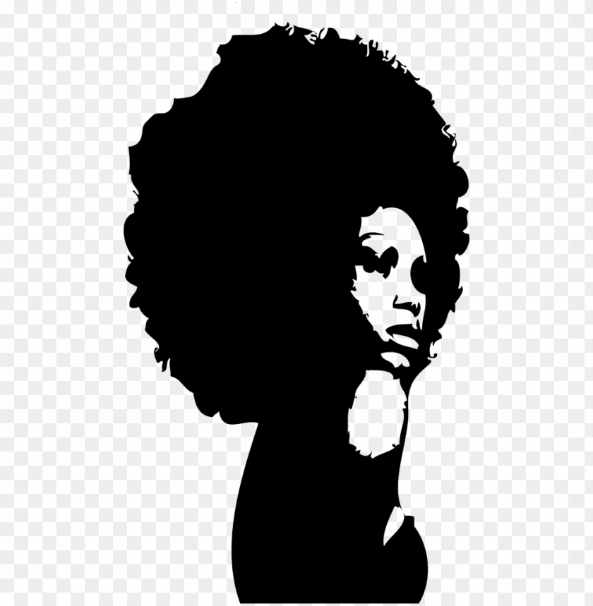 afro png transparent clipart black and white stock.