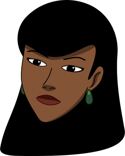 Vector clip art of black woman with an Afro hairstyle.